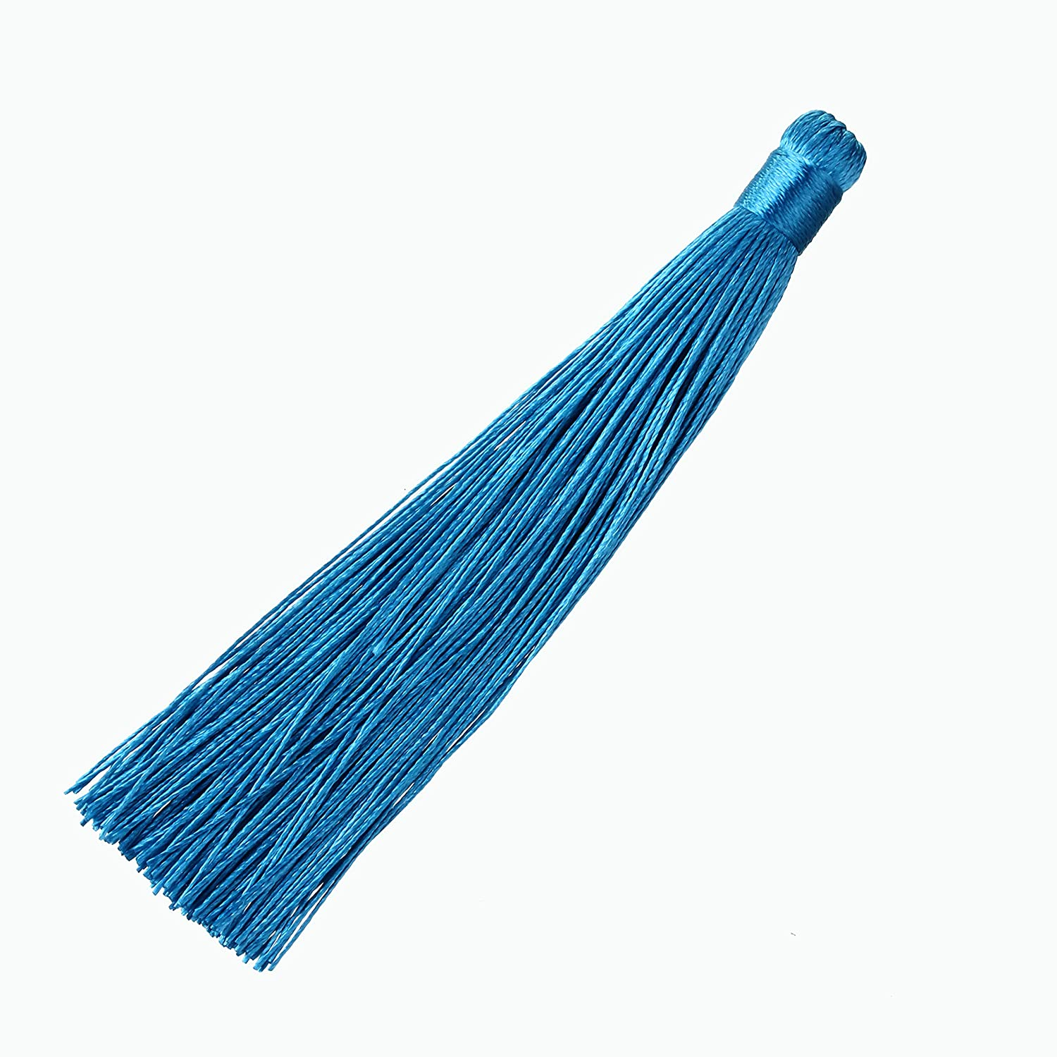 Linsoir Beads 10 pcs Navy Blue Tassels 4.7 inches Large Long Tassel for Jewelry Making F6639NB00