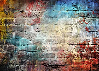 Amazon Com Muzi Graffiti Brick Wall Photography Backdrops For