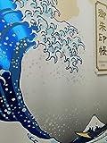 SOWA LABO 墨が裏面に染み出ない御朱印帳 葛飾北斎 富嶽三十六景浪裏