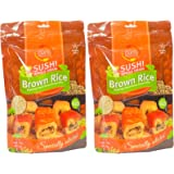 Sushi Brown Rice, Premium Japanese Short Grain Rice, Specially Selected, 16oz Resealable Bag (Pack of 2, Total of 32oz)