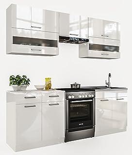 Anself Küchenzeile Küchenblock Einbauküche ohne Elektrogeräte ...