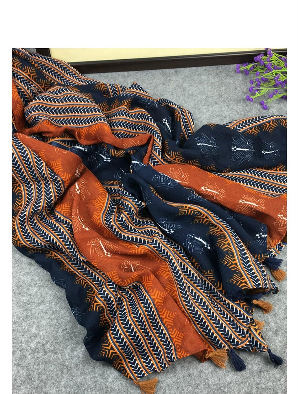 Women Cotton Tassels Travel UV Resistance Shawls