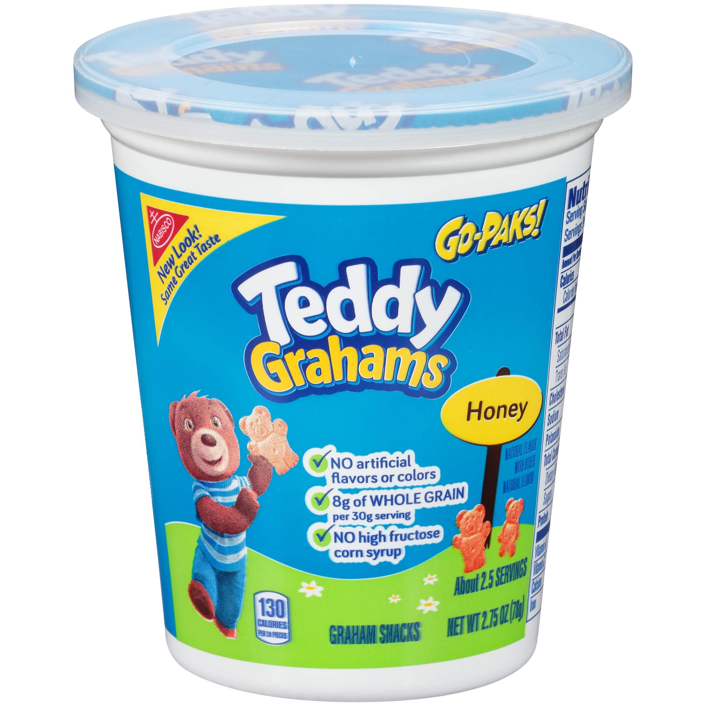 Teddy Grahams Honey Graham Snacks, Go-Pack, 2.75 Ounce (Pack of 12)