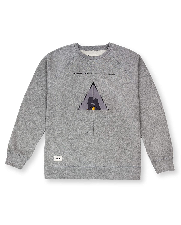 Brava Fabrics, Gemusterter Sweater in der Farbe Grau, Modell Moonrise Kingdom Sweater