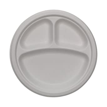 amazon com dixie 3 compartment molded fiber paper plate by gp pro