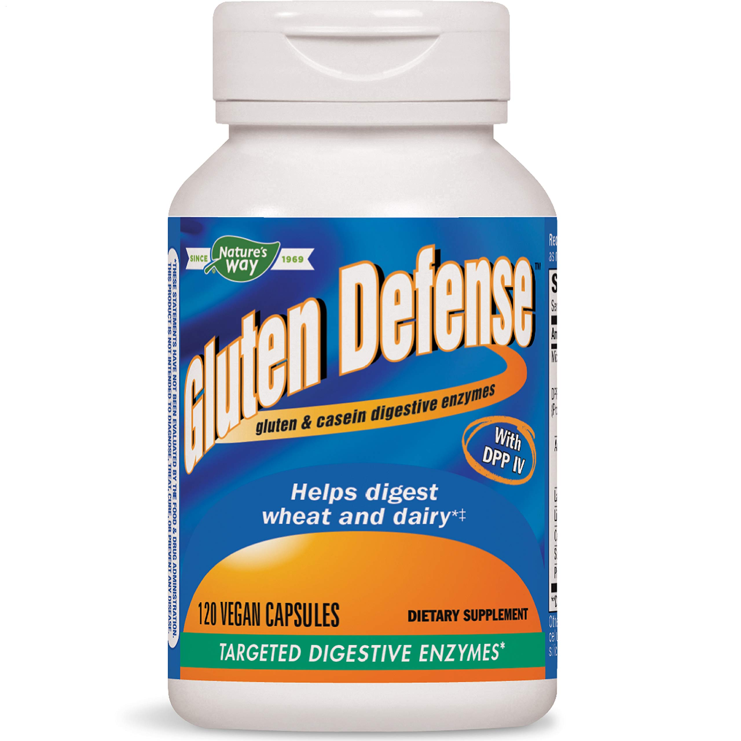 Nature's Way Gluten Defense, Gluten & Casein Targeted Digestive Enyzmes, 120 VCaps (Packaging May Vary) by Nature's Way