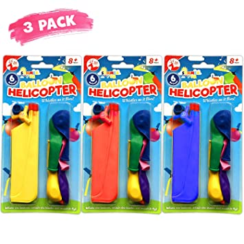 21pk Balloon Helicopter18 Balloons and 3 HelicopterPerfect for Party Bags