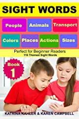 SIGHT WORDS - Level 1: Book 1 - People Animals Colors Sizes Places Transport Actions: Single Words with Pictures suitable for 2 - 5 year olds Beginner Readers Kindle Edition