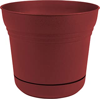 "product image for Bloem SP0713 Saturn Planter w/Saucer 7"" Burnt Red, 7"""