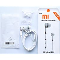 Generic Wired In-Ear Headphone with 3.5 mm Jack & Mic for all Smartphones- White