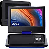 "SUNPIN 11"" Portable DVD Player for Car and Kids with 9.5 inch HD Swivel Screen, 5 Hour Rechargeable Battery, Dual Earphone Ja"