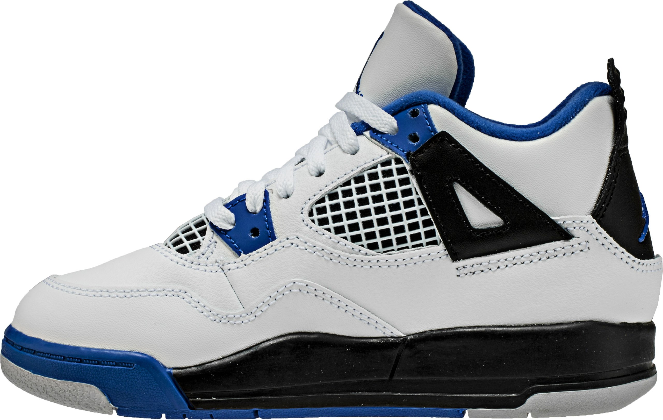 Jordan 4 RETRO BP boys fashion-sneakers 308499-117_1Y - White/Game Royal-black