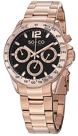 SO & CO New York 5001.4 - Reloj de cuarzo para mujeres, rosado