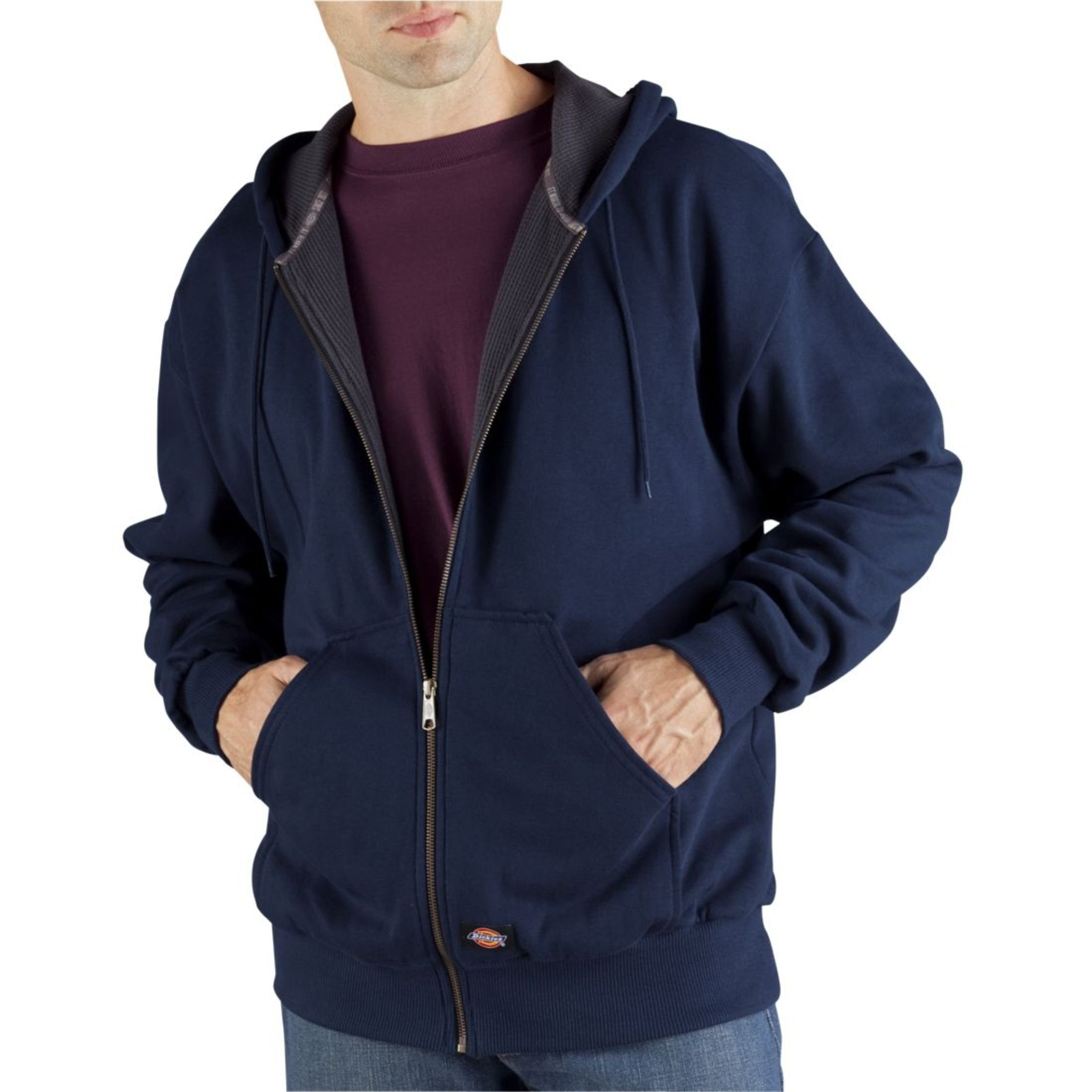 Dickies Men's Thermal Lined Fleece Jacket, Dark Navy, X-Large by Dickies