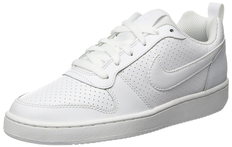 NIKE Men's Court Borough Low Basketball Shoe B013VNWTQU 8.5 D(M) US|White/White White