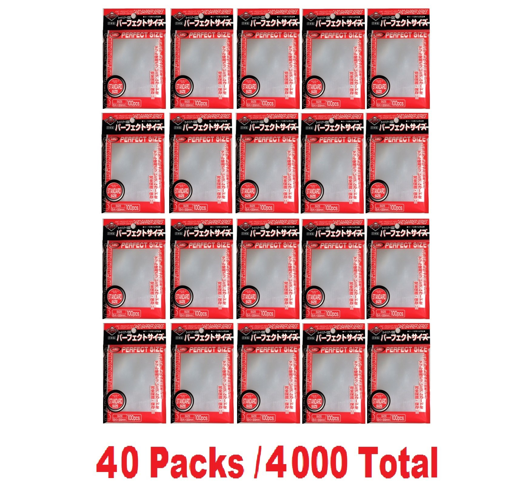 KMC 100 Card Barrier PERFECT SIZE (40 packs/Total 4000) by KMC