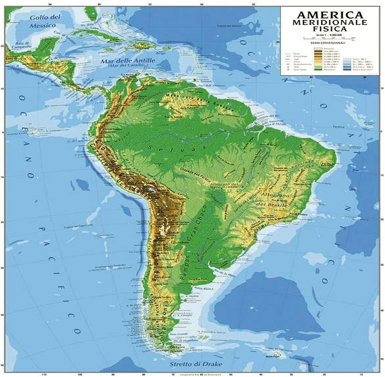Cartina Fisica America Meridionale.Cartina Geografica America Meridionale Bifacciale Fisica Politica 100x140 Cm Cartina Amazon It Cancelleria E Prodotti Per Ufficio