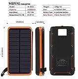Solar Charger 24000mAh,WBPINE Solar Power Bank