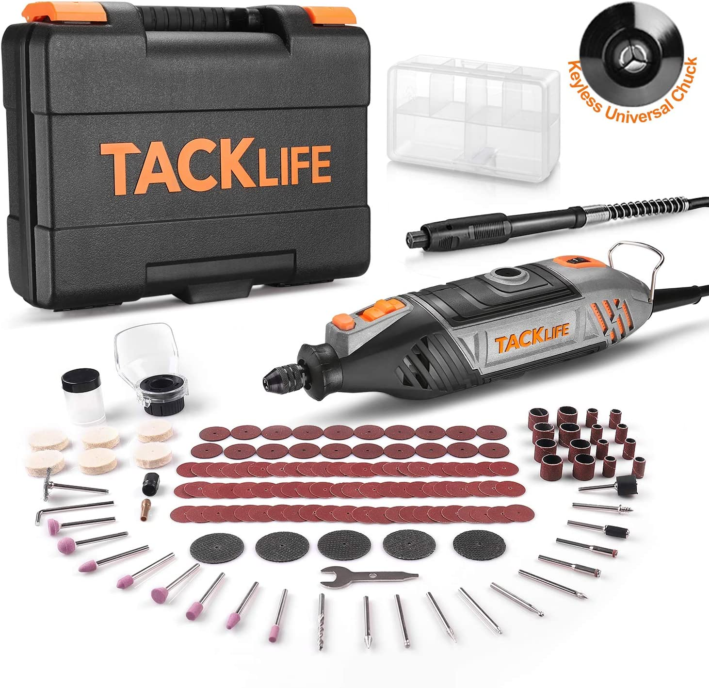 Lake Blue TACKLIFE Accessories Kit ARTO2C and Rotary Tool Kit RTD35ACL