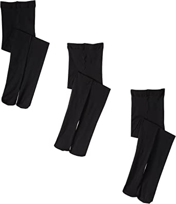 Jefferies Socks Girls Smooth Tights Pack of 3