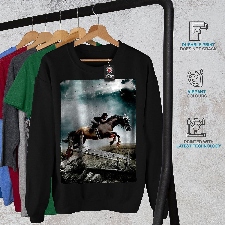 Girl Casual Jumper wellcoda Horse Sport Photo Animal Mens Sweatshirt