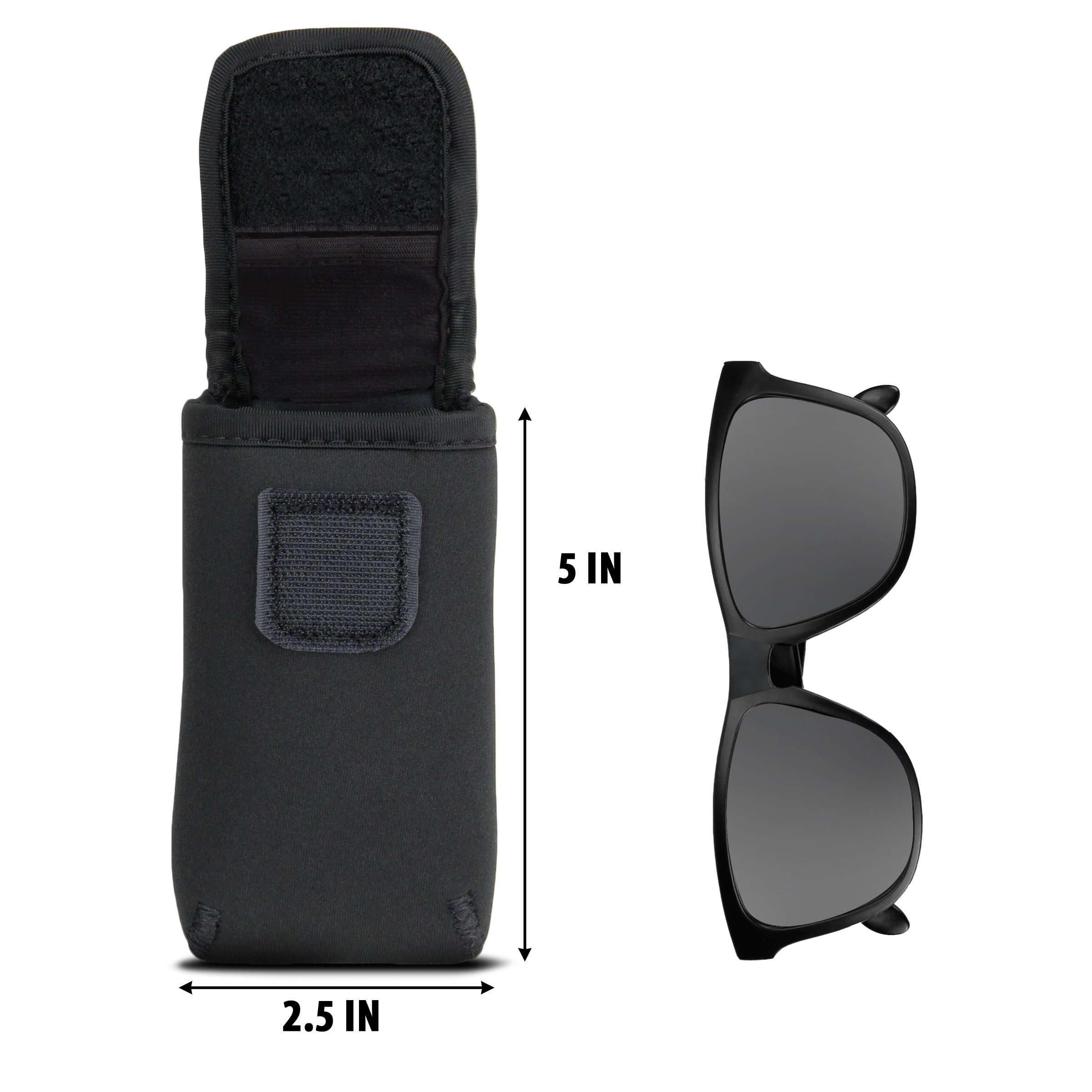 Sunglasses and Eyeglasses Case by USA Gear - Fits Designer Glasses & Shades by USA Gear (Image #3)