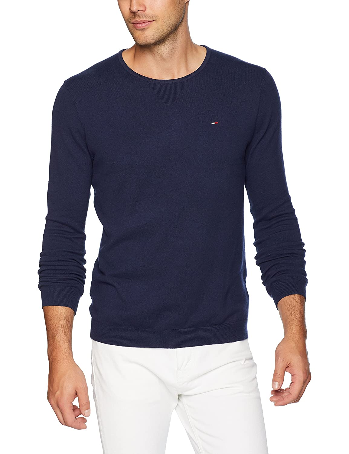 Højmoderne Tommy Hilfiger Men's Sweater Original Crew Neck at Amazon Men's YR-56