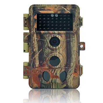 DIGITNOW 16MP Cámaras de Caza 1080P HD Impermeable,Gran Angular de 120° y 40pcs IR LED Infrarrojo Visión Nocturna con Hasta 20M,Sendero Juego ...