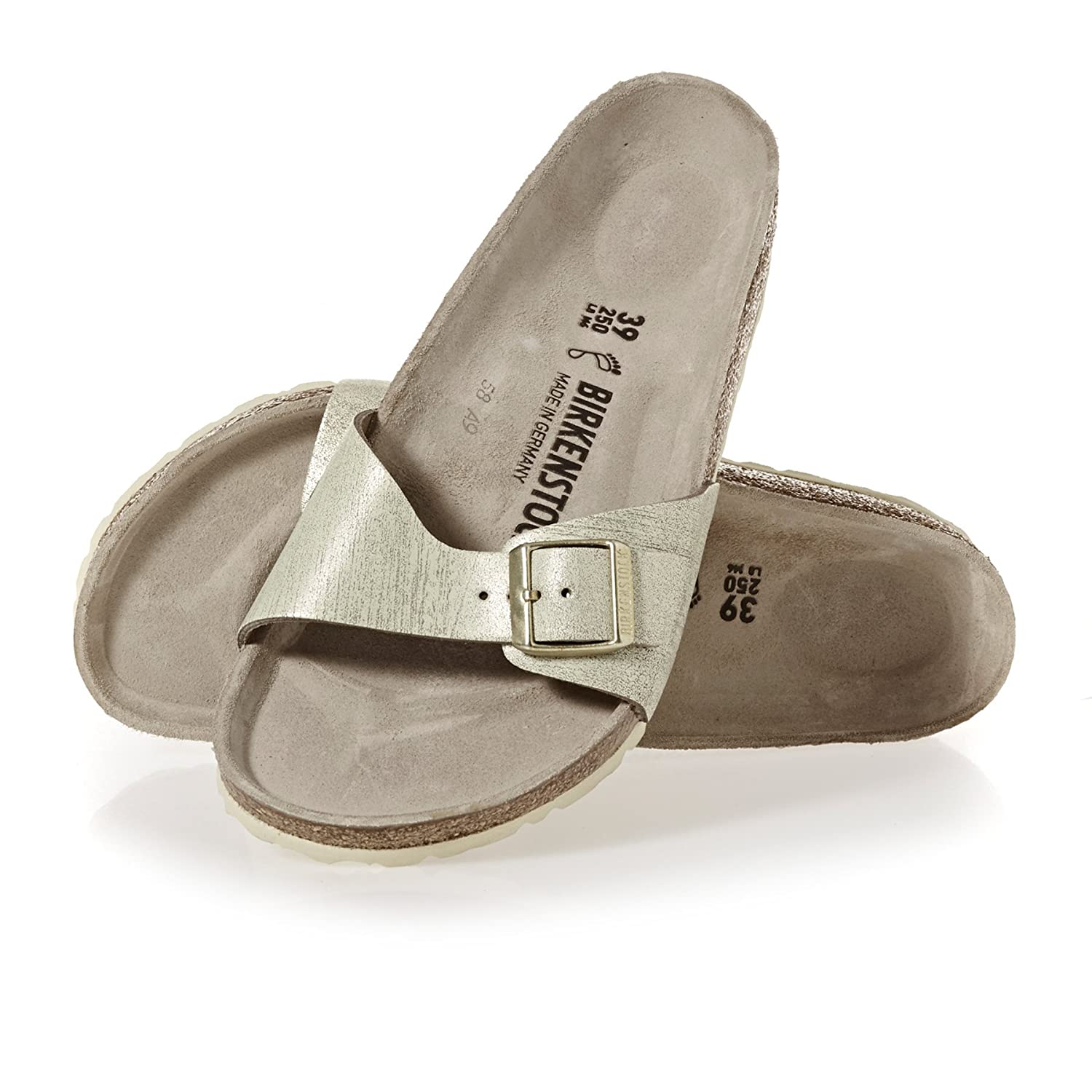 Vl Birkenstock Womens Washed Madrid Metallic Sandals Buy hrsQCtd