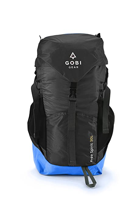 b35805632921 Gobi Gear New Free Spirit 30L Travel Backpack - 100% Packable Backpack -  Easily Organized - Water Resistant. Best Hiking
