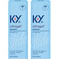 K-Y Ultragel Lube, Personal Lubricant, Water-Based Formula, Safe to Use with Silicone Toys, For Men, Women and Couples…