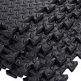 Tangkula 48 Sq Ft EVA Foam Floor Interlocking Mat Show Floor Gym Mat Black New2016