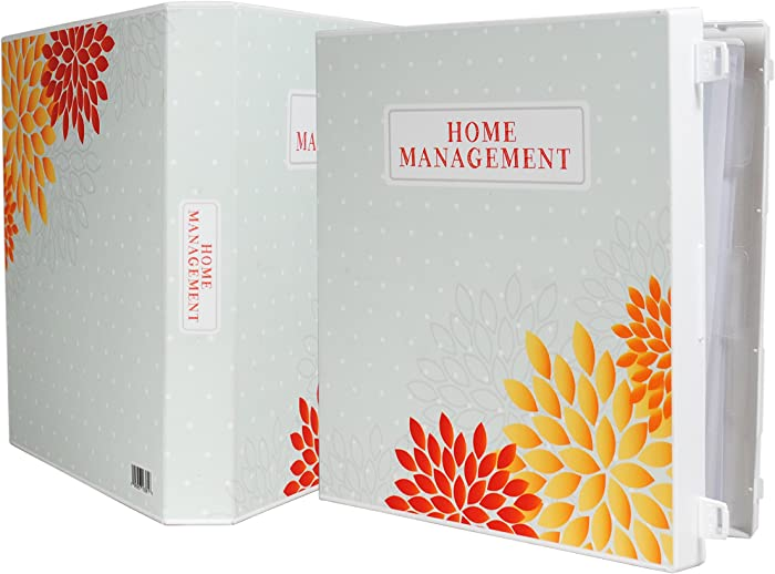Home Organization Binder - Polka Dots & Flowers