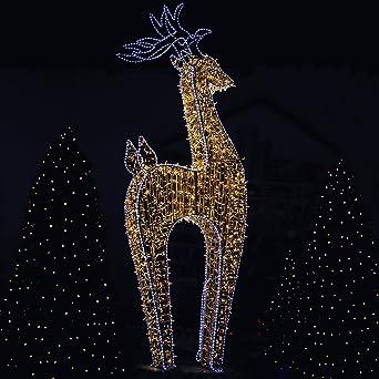 Renne lumineux XXL à LED blanc chaud 370 cm - Décoration de Noël on