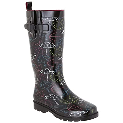 Capelli New York Ladies Shiny Tall Rubber Rain Boots | Boots