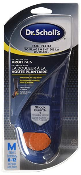 6da0763a03 Dr. Scholl's Pain Relief Orthotics for Arch Pain - Men's: Amazon.ca ...