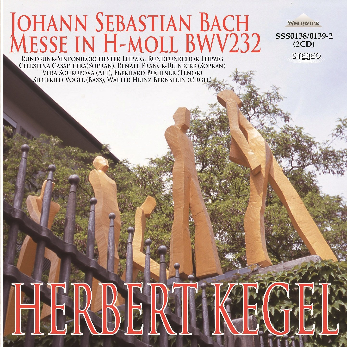 Bach Mass In B. (Celestina Casapietra And Renate Franck-Reinecke Sopranos. Vera Soukupova Al by WEITBLICK