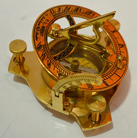 Nice Nautical Sundial Compass West London In Double Color For Gifting Item Maritime Compasses Antiques