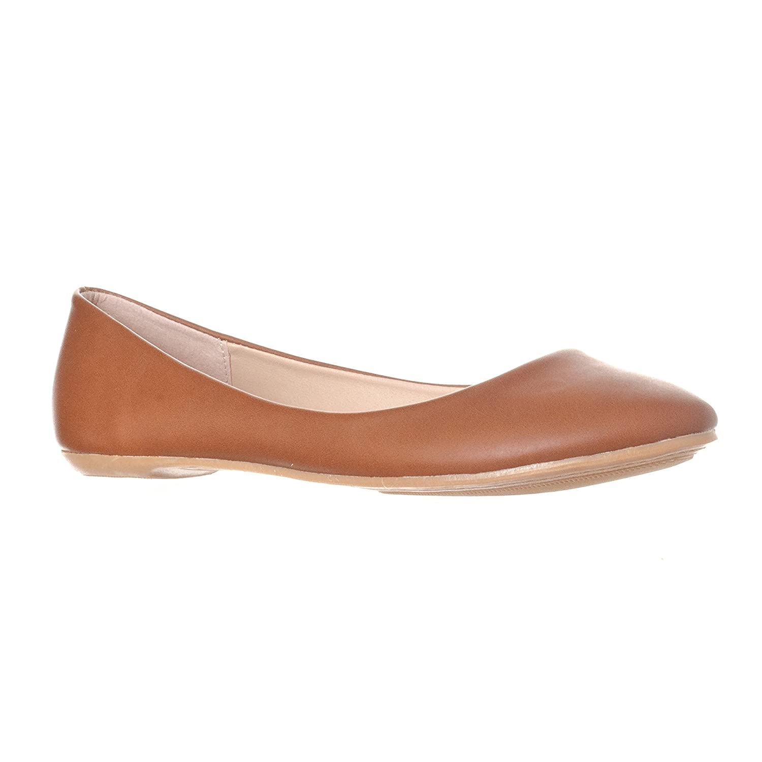 Riverberry Women's Aria Closed, Round Toe Ballet Flat Slip On Shoes B017CC8ES8 6 M US|Brown Pu