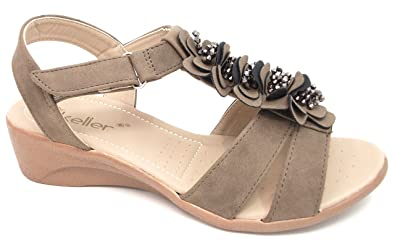 WOMENS DR KELLER WIDE FIT STRAPPY HOLIDAY BEACH SUMMER SANDALS LADIES SIZE
