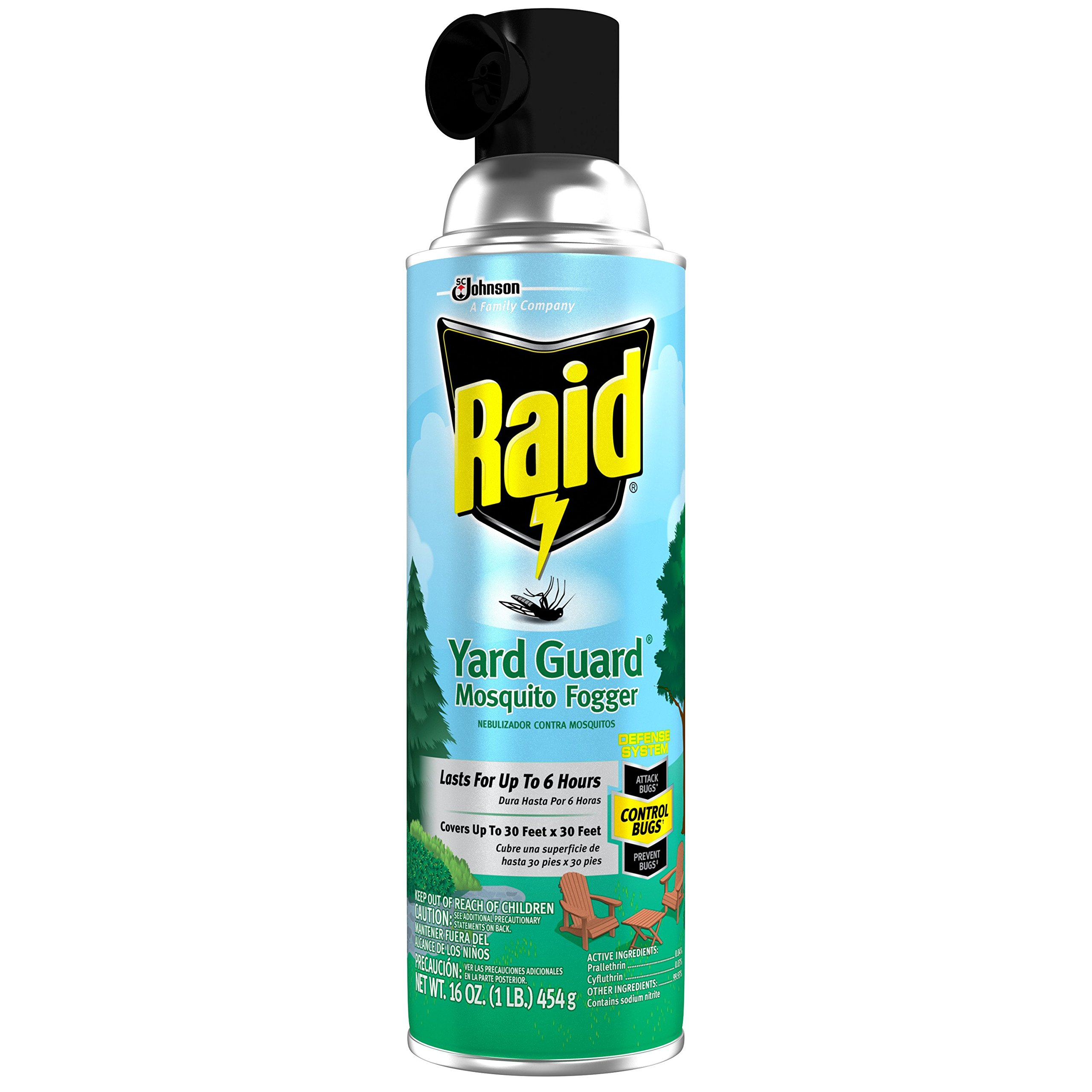 Raid Yard Guard Mosquito Fogger 16 oz, 12 Pack by Raid