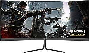 VIOTEK GNV29CB Ultrawide Curved 29-Inch Gaming Monitor   120Hz UWFHD 21:9 w/Immersive 1200R VA Panel   FreeSync, G-SYNC-Compatible   3-Year Warranty, 0-Tolerance Dead Pixel Policy (VESA)