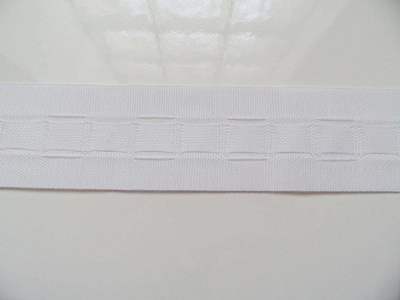 Merceries83 Nastro ruflette bordo arricciato, per tende, larghezza 3,5 cm x 2 m