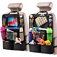 $22 » H Helteko Backseat Car Organizer, Kick Mats Back Seat Protector with Touch Screen…