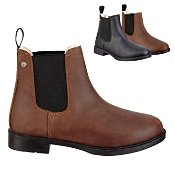 Chelsea Boot Jodhpur Winter Cómodos botines de invierno de piel de vacuno, equitación zapatos, ...