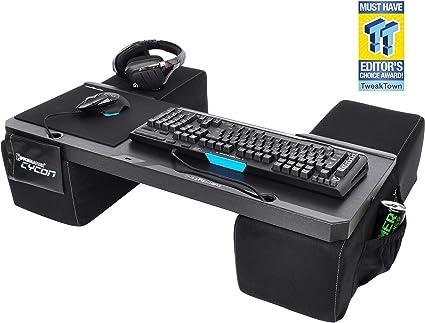 Couchmaster® CYCON   Edicion gamuza negra (Base ergonómica para Ratón y Teclado. Utilizable: PS4 / PC / XBOX One): Amazon.es: Informática