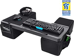 Couchmaster CYCON - New Suede-Look Black - The Couch Gaming Desk for Mouse & Keyboard (for PC / PS4 / Xbox One)