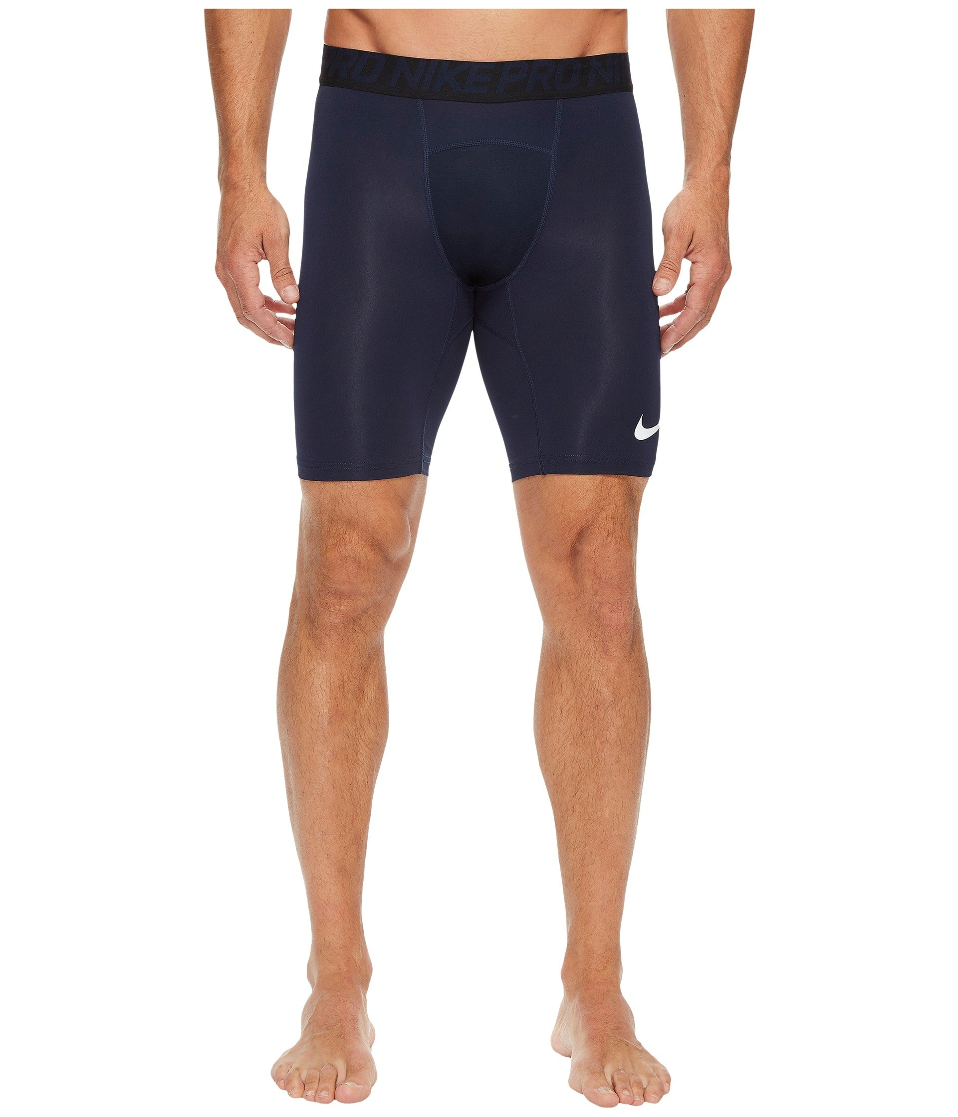 Nike Men Pro Training Shorts, Obsidian/White/White, Size Large by Nike