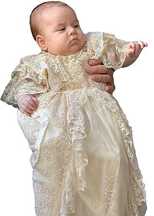 ec2dbe3d25d Newdeve Lace Christening Gowns Baby Girls Baptism Dress Baby Dress (Newborn