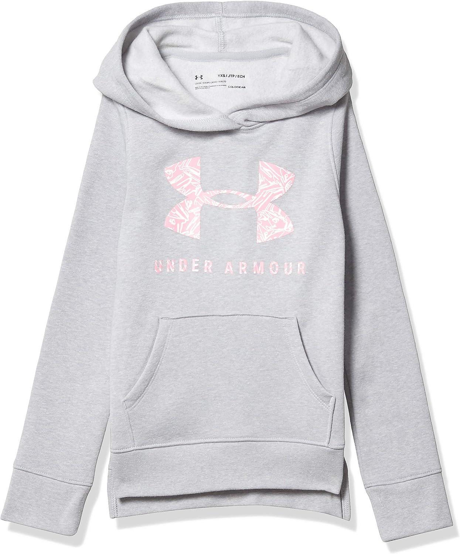Under Armour Girls Rival Print Fill Logo Hoodie Hoodie